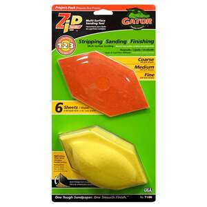 Gator  Zip  3 in. W x 6 in. L Sanding Block Kit  Assorted  Assorted Grit