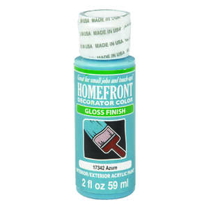 Homefront  Decorator Color  Gloss  Azure  Acrylic Latex  Hobby Paint  2 oz.