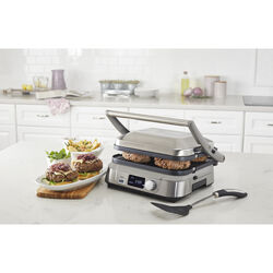Cuisinart  16 in. L x 8.75 in. W Stainless Steel  Nonstick Surface Griddle