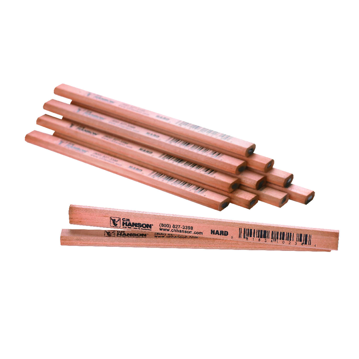 C.H. Hanson  7 in. L x 0.5 in. W Carpenter Pencil  Beige  Wood  12 pc.