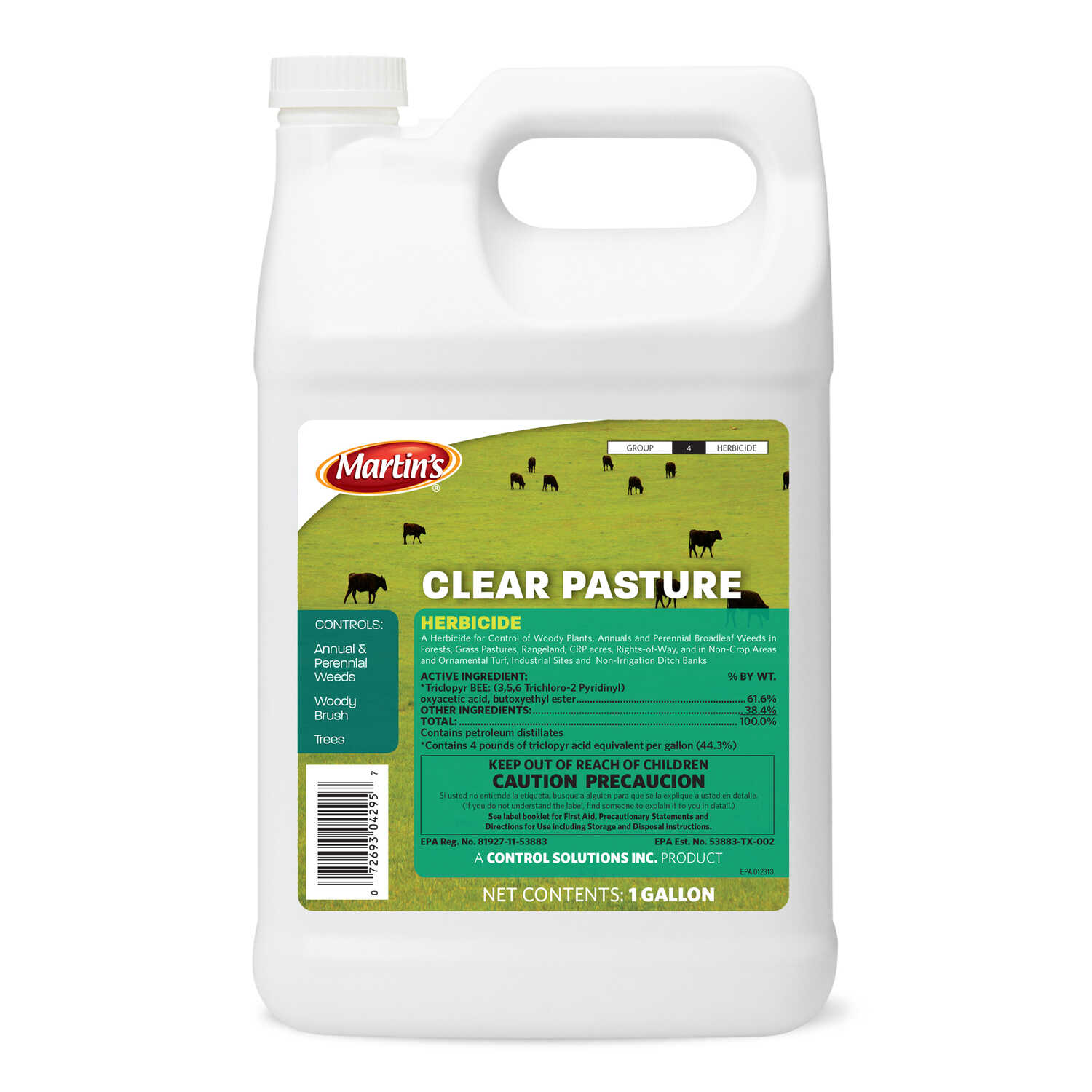 Martin's  Clear Pasture  Concentrate  Weed and Grass Killer  1 gal.