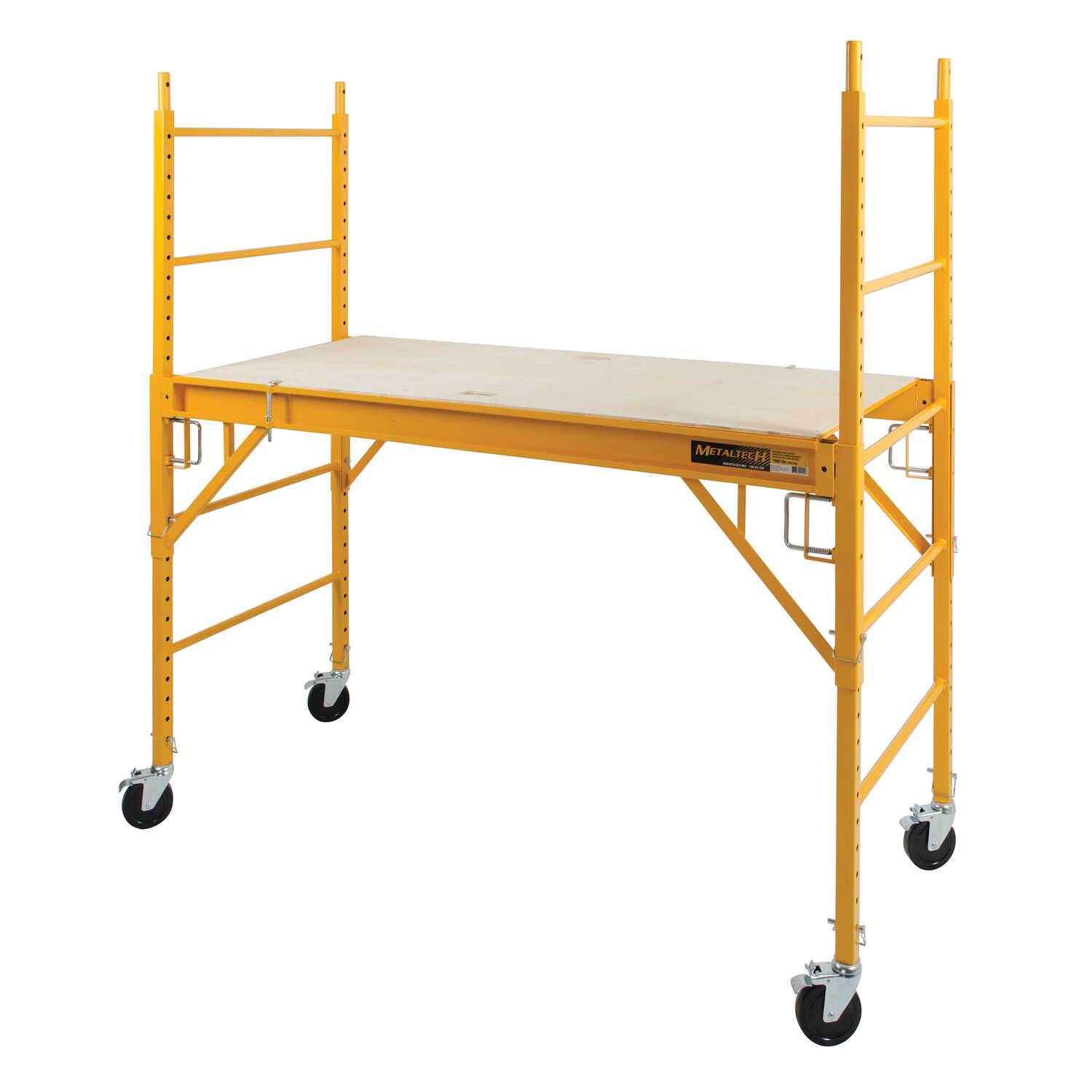 Metaltech  Steel  Yellow  Work Platform