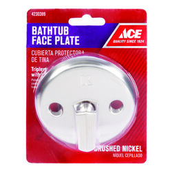 Ace  Brushed  Nickel  Bathtub Face Plate