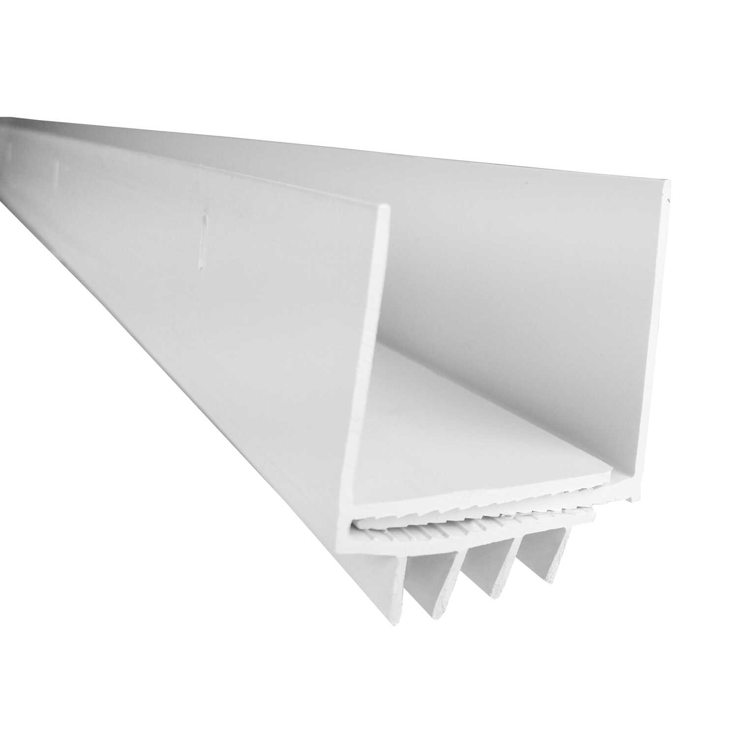 M-D Building Products  White  Vinyl  Door Bottom  For U-shaped 3 ft. L x 1-3/4 in.