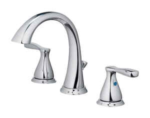 OakBrook  Modena  Moderna  Chrome  Widespread  Lavatory Pop-Up Faucet  6-8 in.