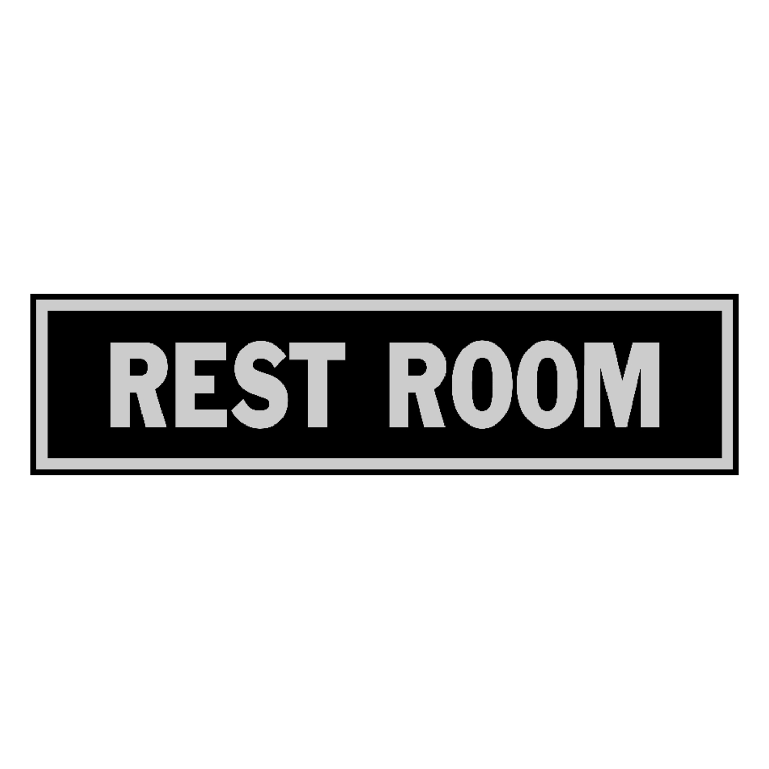 Hy-Ko  English  Rest Room  2 in. H x 8 in. W Sign  Aluminum