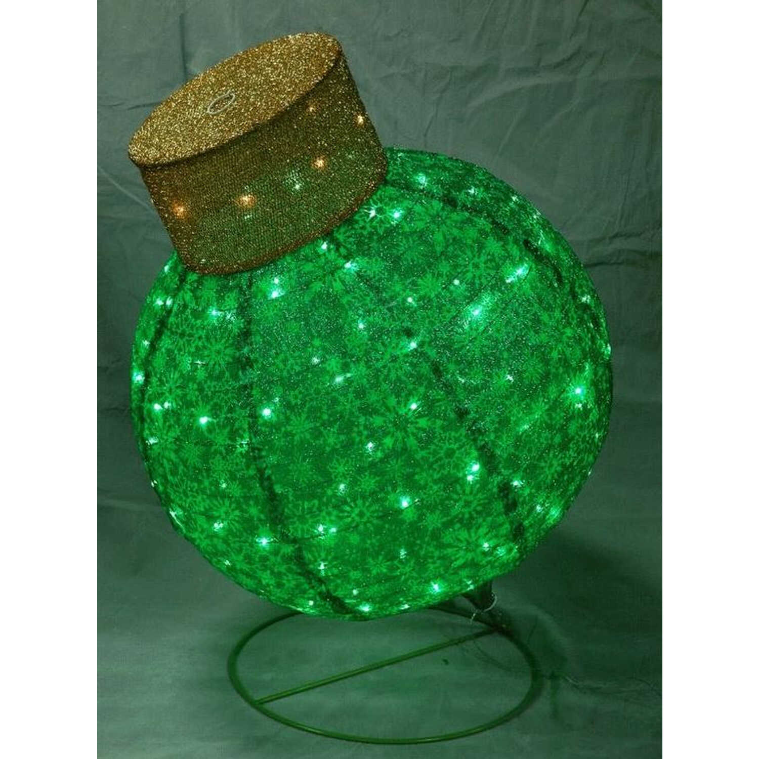 Citi-Talent  Ornament  Holiday Decoration  Green  1 each Fabric