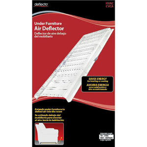Deflect-O  1-1/2 in. H Silver  Plastic  Under Furniture Air Deflector