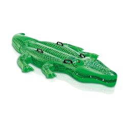 Intex Green Plastic Inflatable Giant Gator Floating Tube