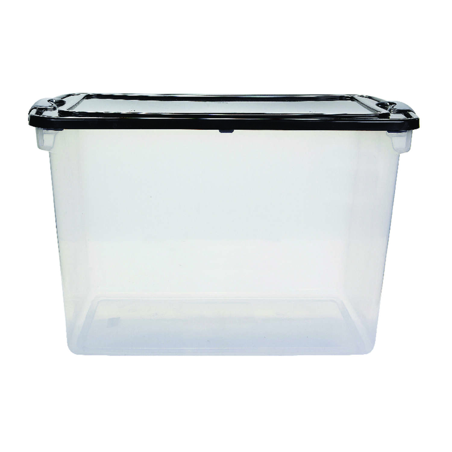 Homz Latching 18.25 in. H x 16 in. W x 28.75 in. D Stackable Storage Box