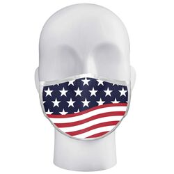Alleson  Badger  American Flag  Face Mask  Multicolored  1 pk