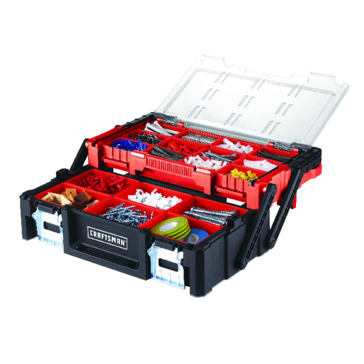 Craftsman  18 in. Plastic  Toolbox  9.4 in. W x 5.71 in. H Black