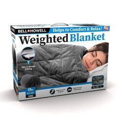 Bell + Howell Gray King Weighted Blanket 1 pk