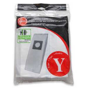 Hoover Windtunnel Vacuum Bag Micro Filtration Type Y Fits Ace Polybagged 3 / Pack Upright