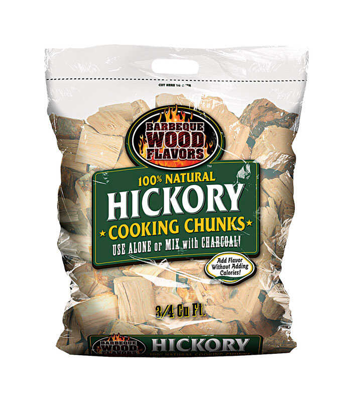 Barbeque Wood Flavors  Hickory  Cooking Chunks  0.75 cu. ft.