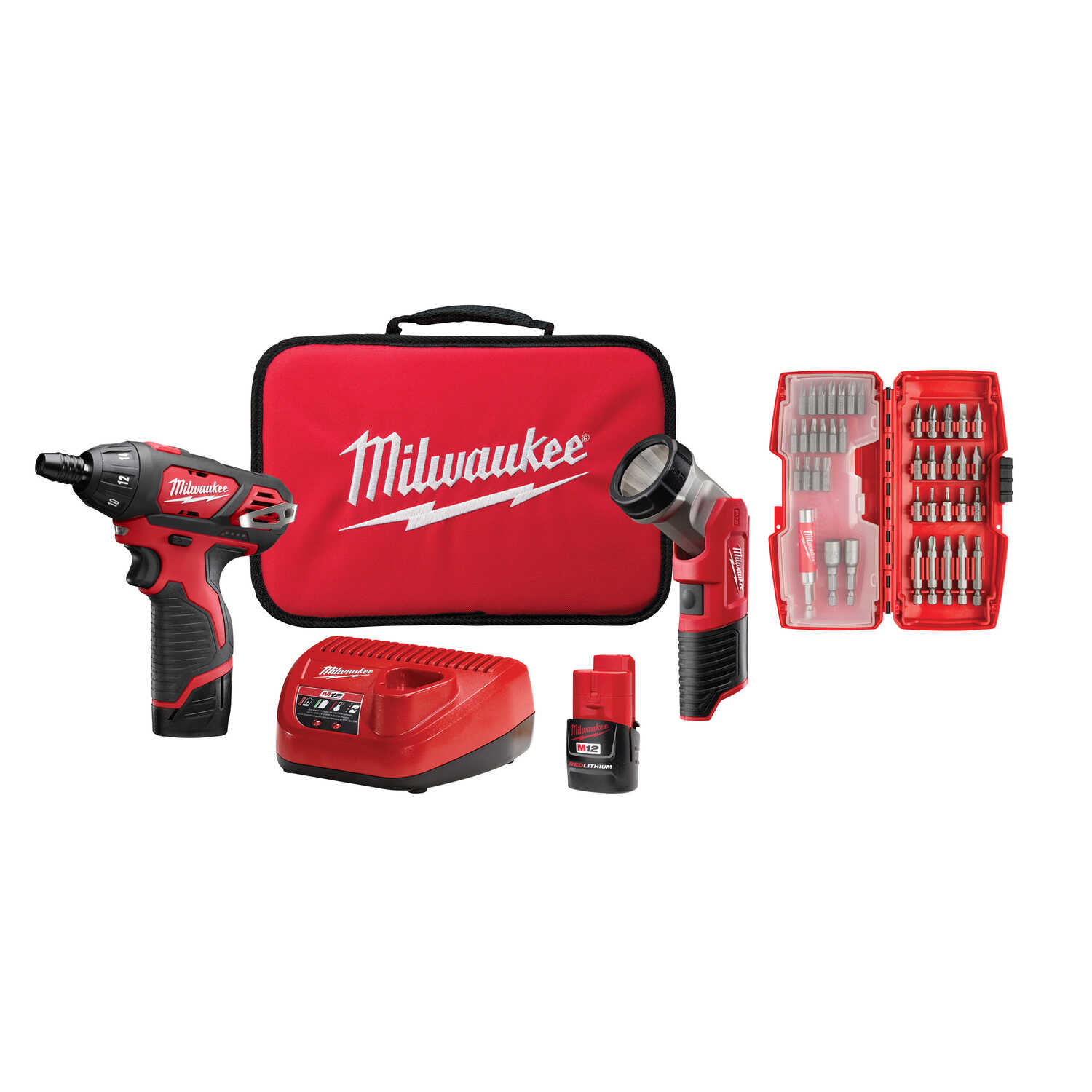 Milwaukee  M12  12 volt 1/4 in. Cordless Compact Drill/Driver  Kit 500 rpm 1 speed