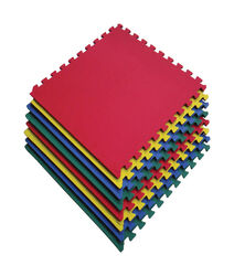 Apex EVA Floor Tiles  23.6 in. W x 23.6 in. L Anti-Slip  Multi  Foam  Floor Tile