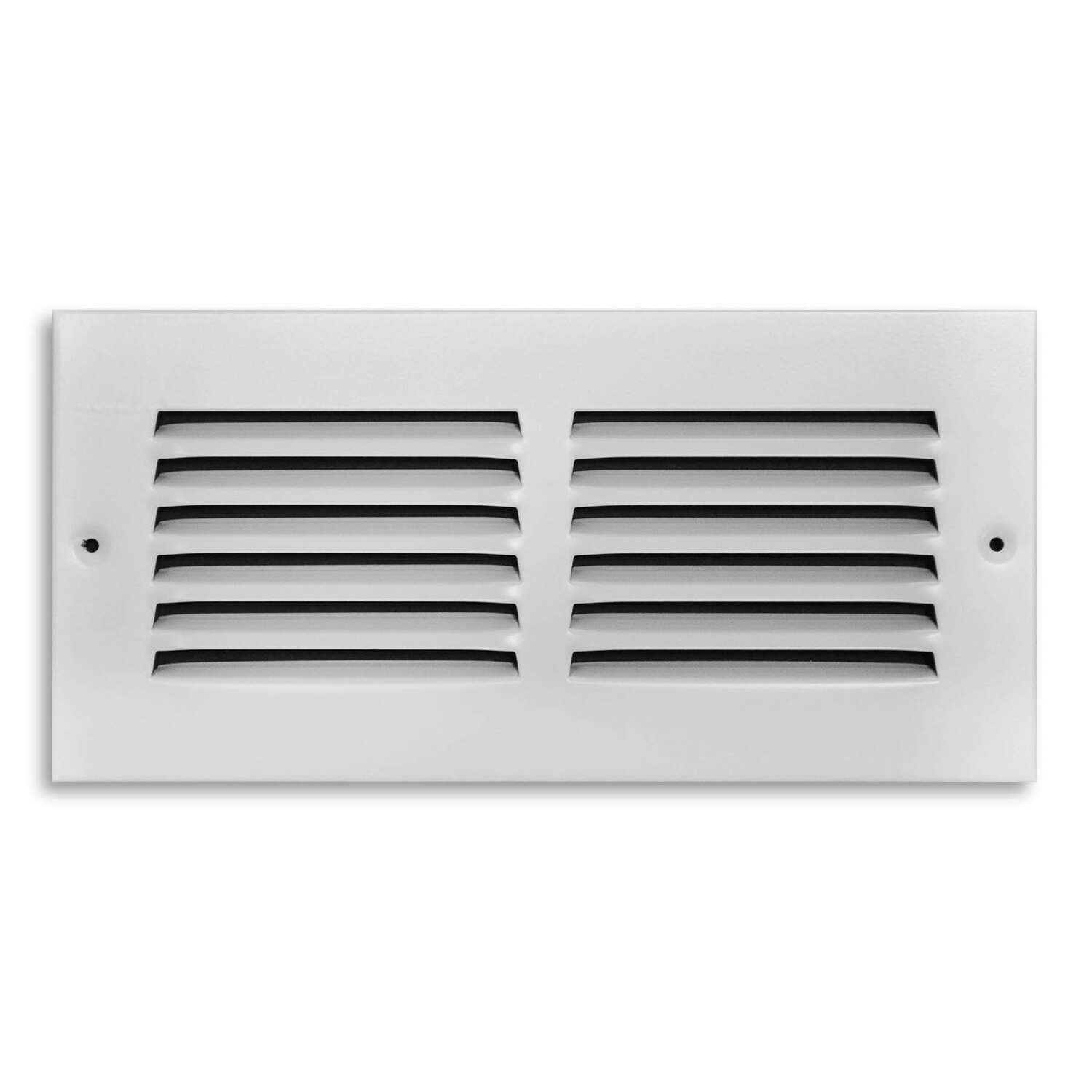 Tru Aire 4 in. H x 10 in. W 1-Way Powder Coat White Steel Return Air Grille