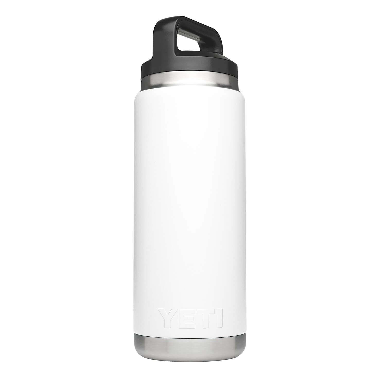 YETI  Rambler  White  Stainless Steel  Beverage Bottle  26 oz. BPA Free