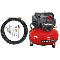 Black and Decker 6 gal. Pancake Portable Air Compressor Kit 150 psi 0.8 hp