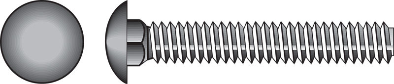 HILLMAN  1/2  Dia. x 3-1/2 in. L Zinc-Plated  Steel  Carriage Bolt  25 pk