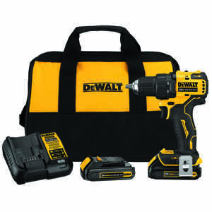 DeWalt  20 volt Brushless  Cordless Compact Drill/Driver  Kit  1/2 in. Single Sleeve Ratcheting  160