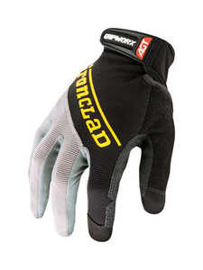 Ironclad  Men's  Silicone-Fused  Work  Gloves  Medium  Black