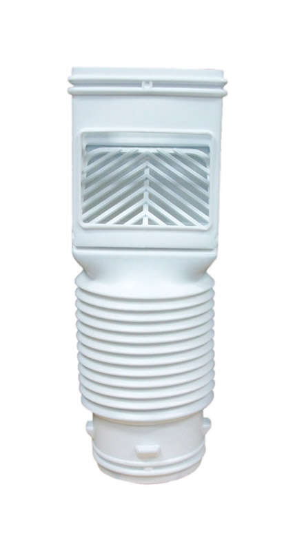 Amerimax 12.75 in. H x 4.625 in. W x 4.625 in. L White Vinyl K Downspout Connector