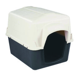 Aspen Pet Petbarn Medium Plastic Dog House 26 in. H x 24 in. W x 32 in. D