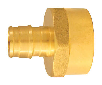 Apollo  Expansion PEX / Pex A  1/2 in. PEX   x 3/4 in. Dia. FPT  Brass  Female Adapter
