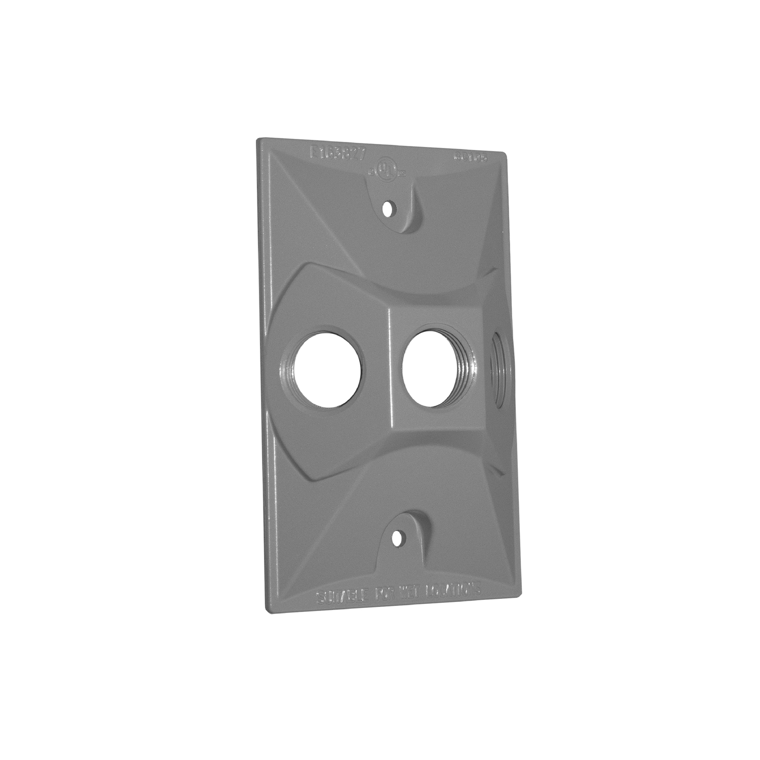 Sigma  Rectangle  Die cast Aluminum  1 gang Electrical Cover  For Light Fixtures