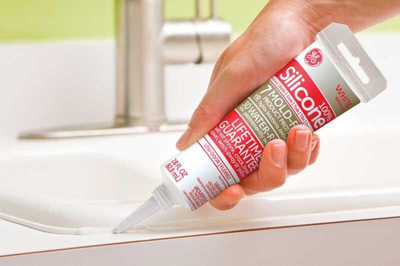 GE White Kitchen and Bath Silicone 2 8 oz  - Ace Hardware