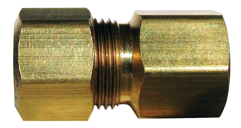 JMF  1/2 in. FPT   x 1/2 in. Dia. FPT  Brass  Connector