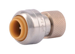 SharkBite  1/4 in. PTC   x 3/8 in.  Compression  Brass  Stop Valve Connector