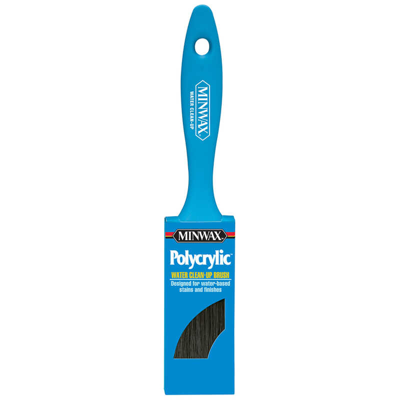 Minwax  Polycrylic  1-1/2 in. W Flat  Nylon Polyester  Paint Brush