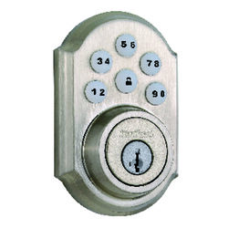 Kwikset SmartKey Satin Nickel Metal Electronic Deadbolt