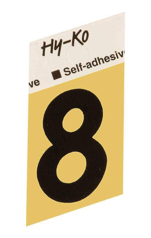Hy-Ko  1-1/2 in. Black  Aluminum  Number  8  Self-Adhesive  1 pc.