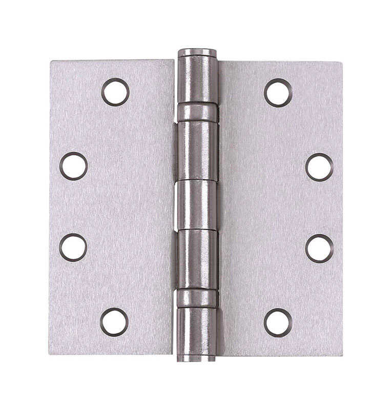 Tell  4-1/2 in. L Satin Chrome  Door Hinge  3 pk