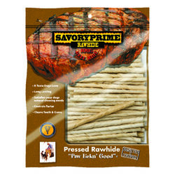 Savory Prime  Munchy Dog Stix  Medium  Adult  Rawhide Twists  Natural  5 in. L 30 pk