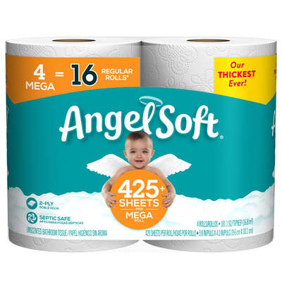 Angel Soft  Toilet Paper  4 roll 429 sheet