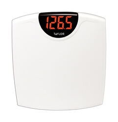 Taylor  330 lb. Digital  Bathroom Scale  White