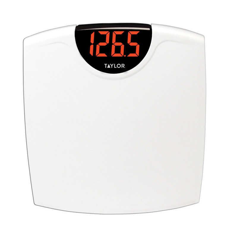 taylor 330 lb digital bathroom scale white - Taylor Bathroom Scales