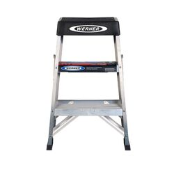 Werner  2 ft. H x 17 in. W Aluminum  Step Ladder  Type IA  300 lb. capacity