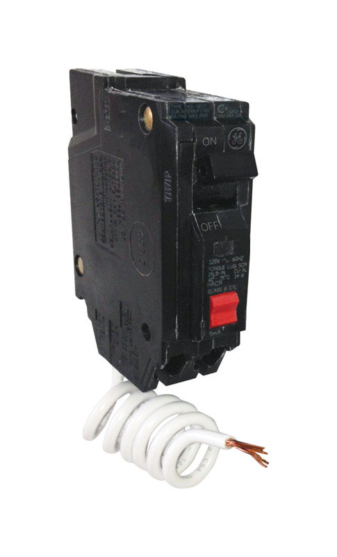 GE  15 amps Ground Fault  Single Pole  Circuit Breaker w/Self Test