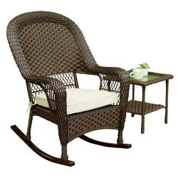 Living Accents  1 pc. Brown  Steel Frame Rocking  Rocking Chair