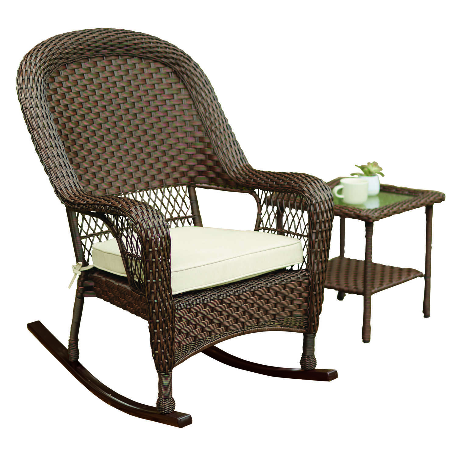 Tremendous Living Accents 1 Brown Steel Prescott Rocker Chair Ace Onthecornerstone Fun Painted Chair Ideas Images Onthecornerstoneorg
