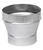 Imperial  3 in. Dia. x 4 in. Dia. Galvanized Steel  Furnace Pipe Reducer