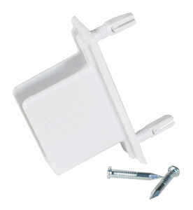 Rubbermaid  8.6 in. H x 7 in. W x 1.3 in. L Metal  Fast Track Wall/End Bracket  1 each