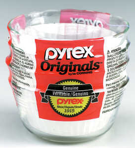 Pyrex  4 in. W x 4 in. L Custard Cups  Clear