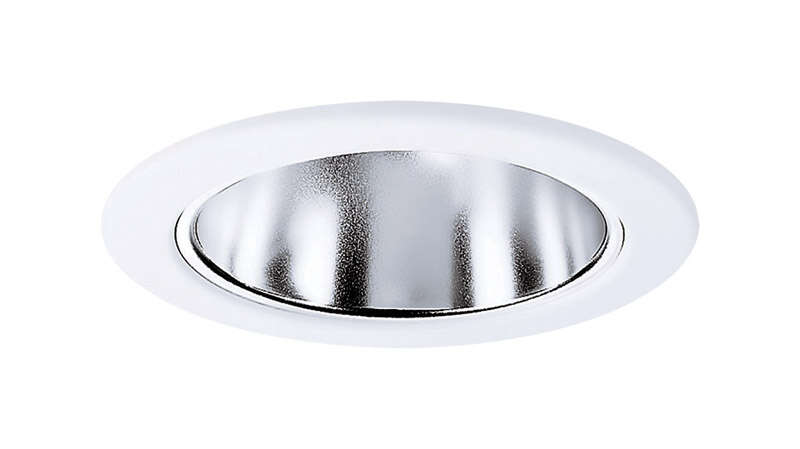 Halo  E-Series  White  Matte  Plastic  Specular Reflector  4 in. W